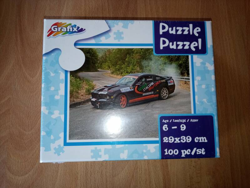 Grafix puzzel Rally auto