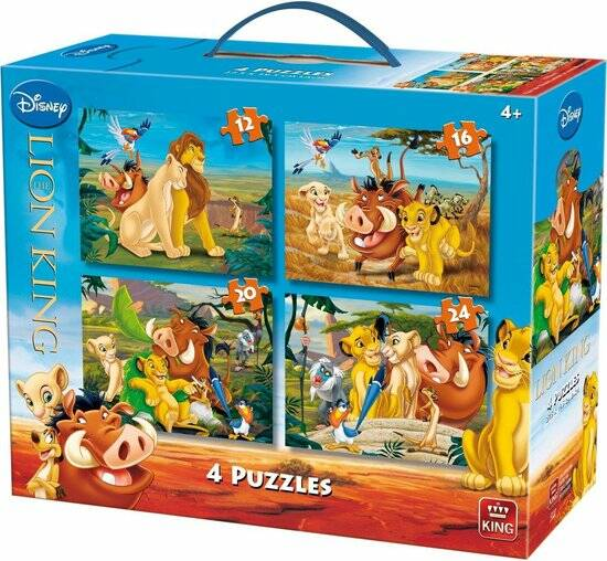 Disney Lion King puzzel 4 in 1 koffer
