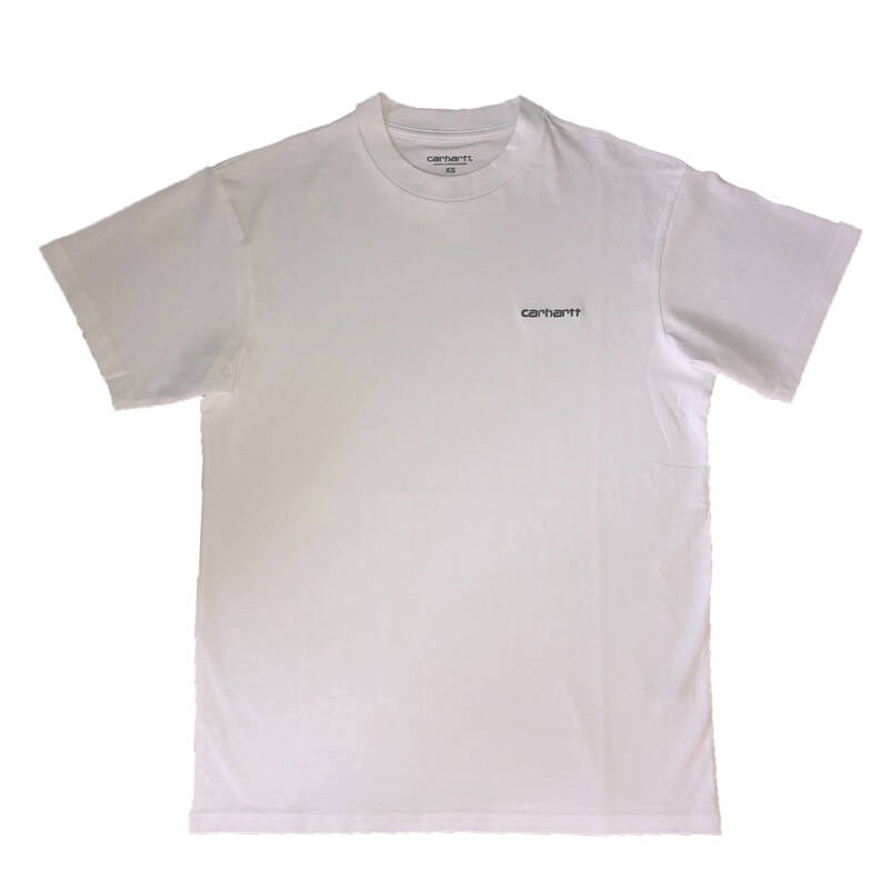 Carhartt WIP S/S Script Embroidery T-Shirt Cypress/White