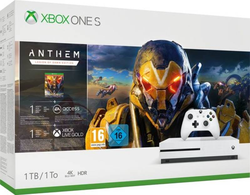 Xbox One S console 1 TB + Anthem