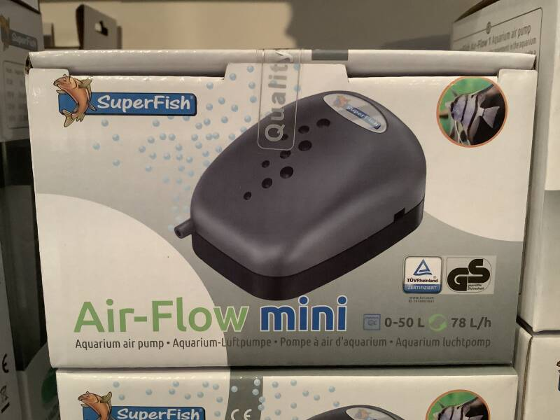 Air flow mini aquarium luchtpomp