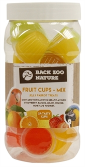BACK ZOO NATURE FRUITKUIPJE MIX PAPEGAAI 24 ST