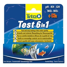TETRATEST 6 IN 1 TESTSTRIPS 25 ST