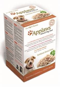APPLAWS DOG POUCHES MULTIPACK JELLY SUPREME 5X100 GR