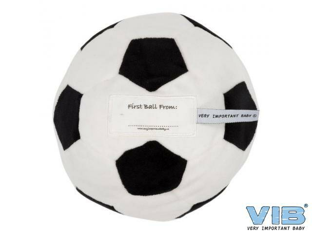 Pluche Voetbal 'First Ball From: ...' Wit-Zwart