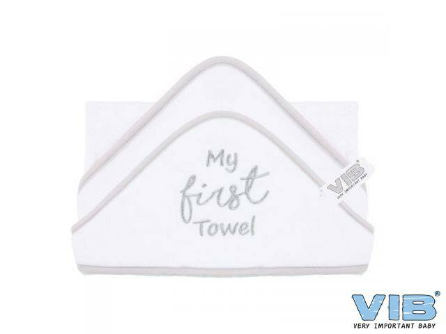 Badcape My FIRST Towel Wit+Zilver