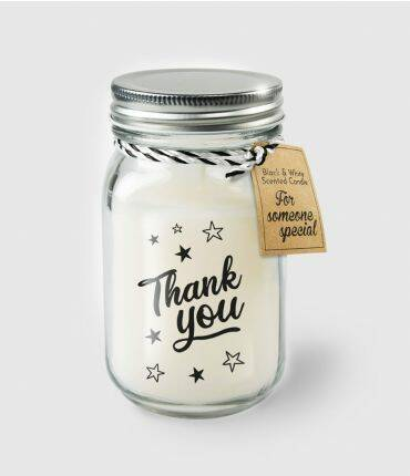 Black & White scented candles - Thank you
