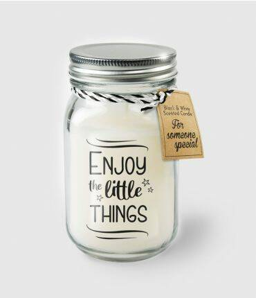 Black & White scented candles - Enjoy the little things