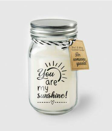 Black & White scented candles - You are my sunshine