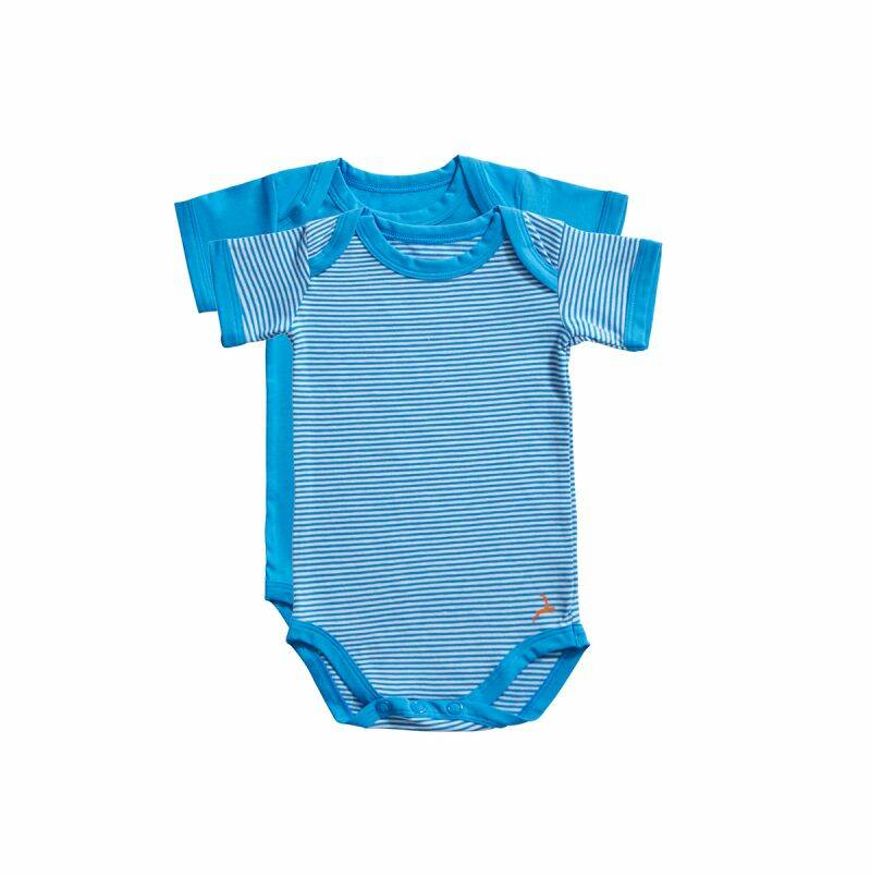 Ten Cate Basic baby romper Stripe and dive blue 2-pack