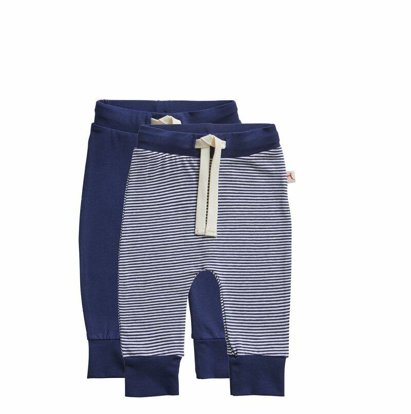 Ten Cate Basic baby broek stripe and blue 2-pack