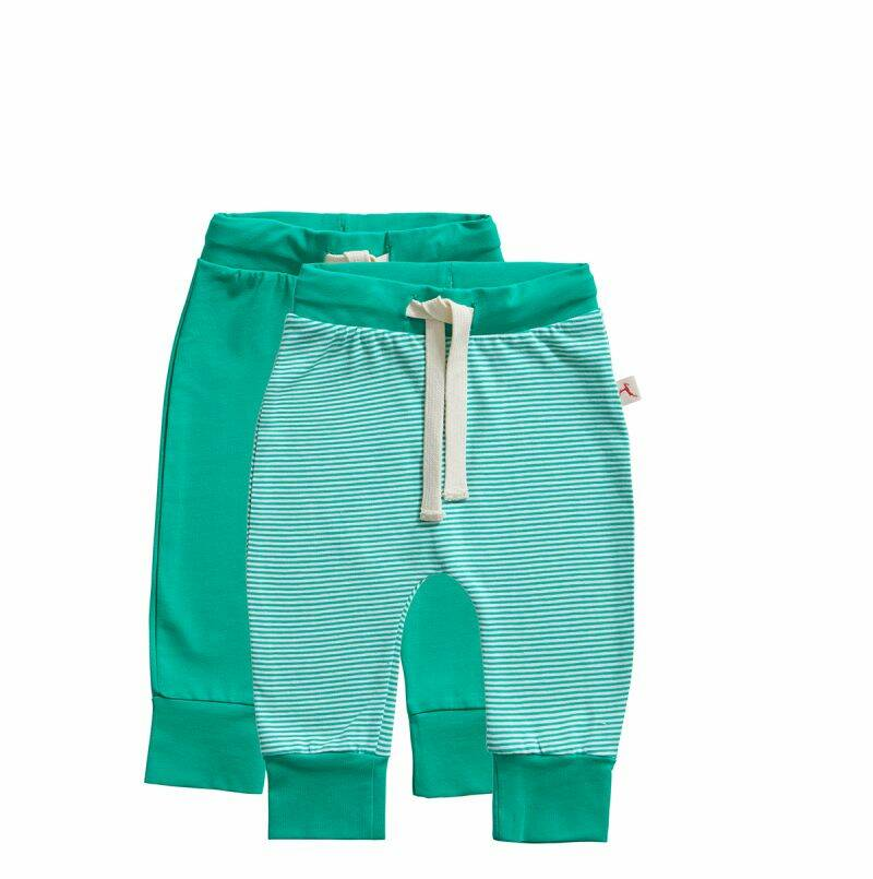 Ten Cate Basic baby broek stripe and mint 2-pack