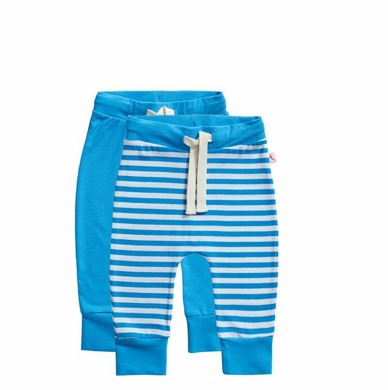 Ten Cate Basic Baby broek stripe and dive blue 2-pack