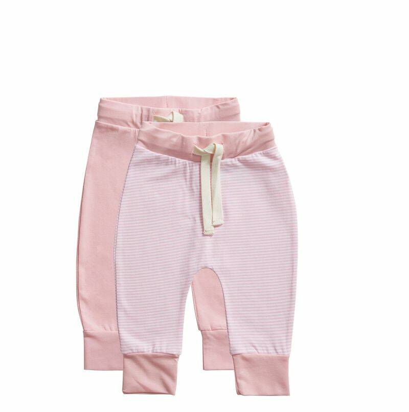 Ten Cate Basic Baby  broek stripe and candy pink 2-pack