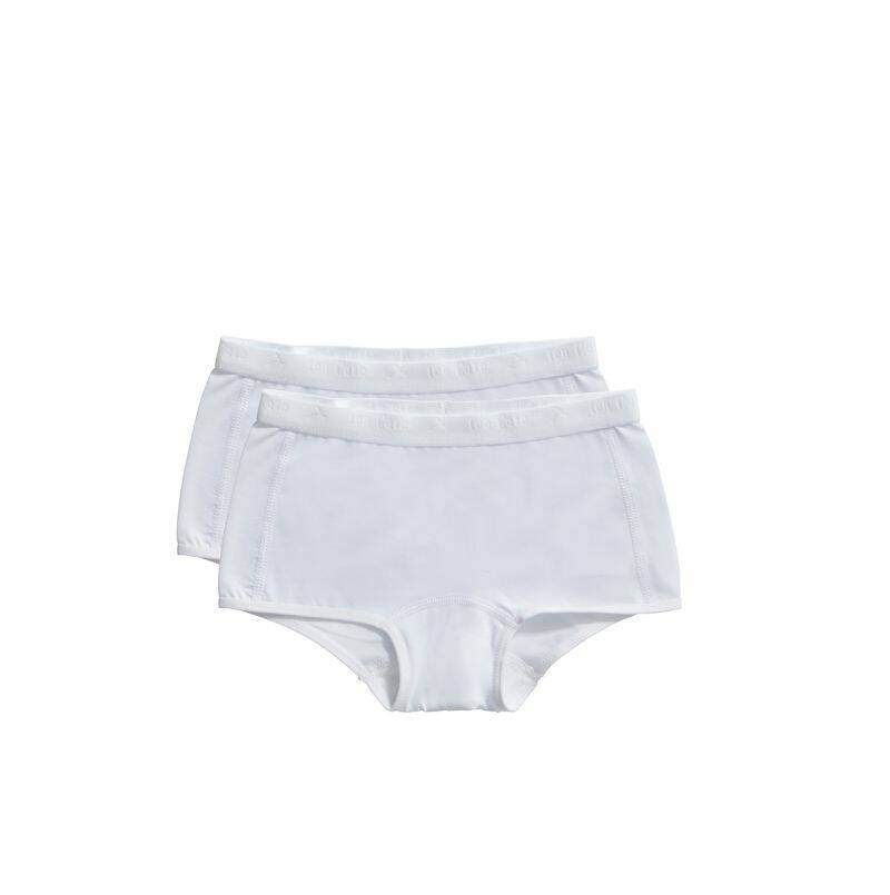 Ten Cate Basic Kids shorts wit 2-pack