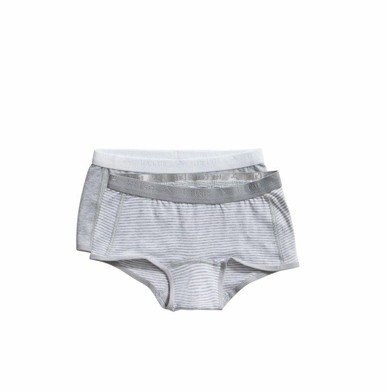 Ten Cate Basic Kids shorts Stripe and light grey melee 2-pack