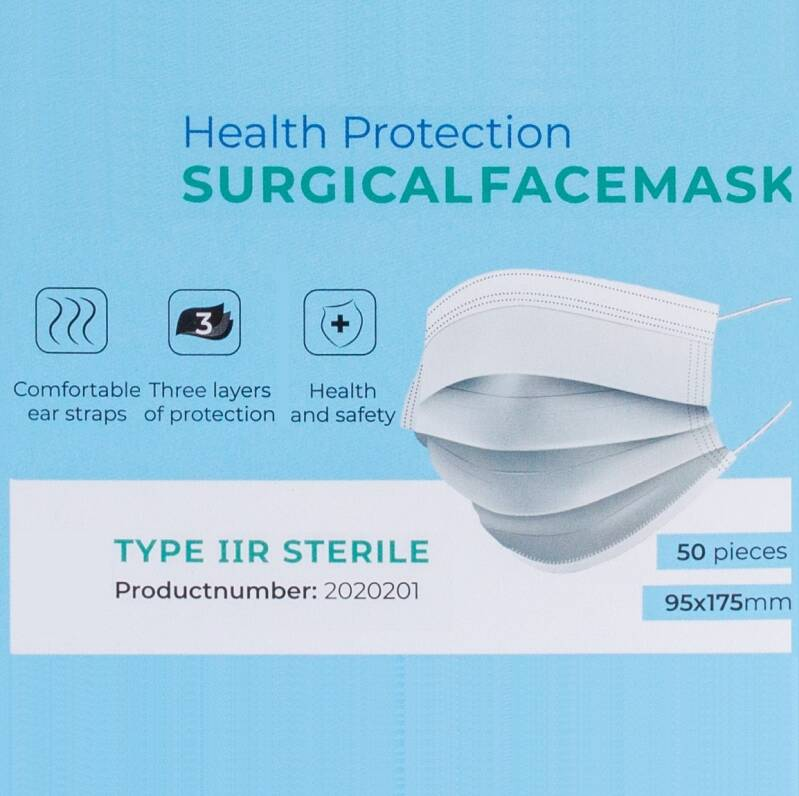 Certified IIR Face Mask |   Box 50 pcs