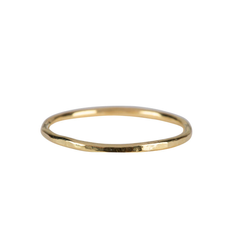 Hammered Ring - 14 Karat Gold Ring