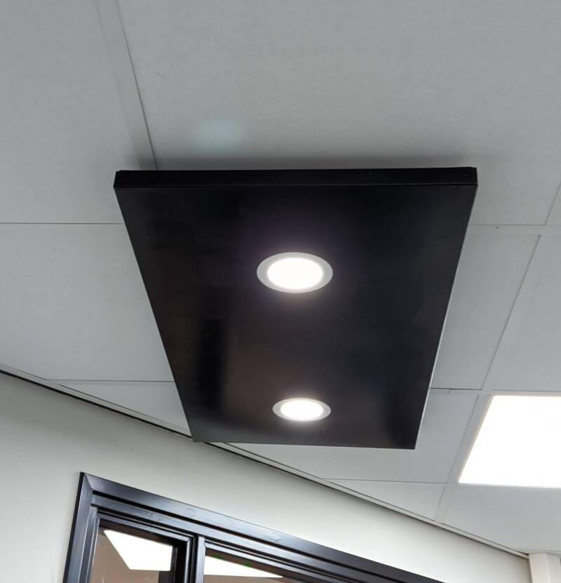 DIHS infrared panel with LED lighting 50 x 100cm, black powdercoated, 540W 230Vac