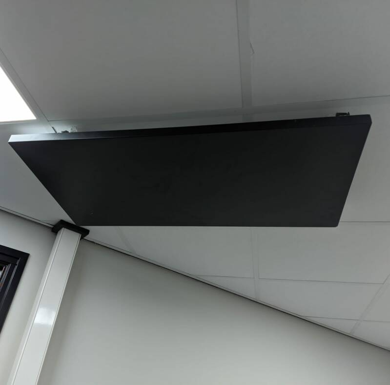 DIHS infrared panel without LED 50 x 100cm, black powdercoated