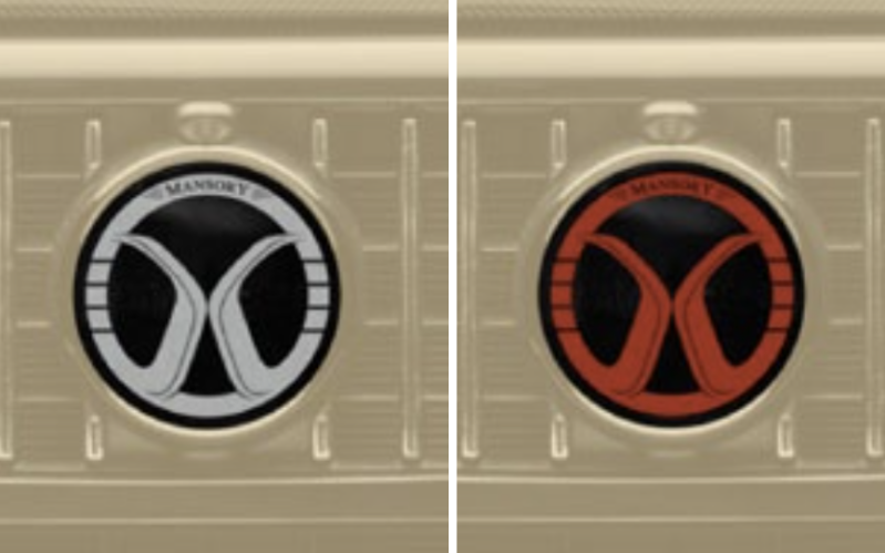 Mansory Logo For Grill Mask G Class (W463a) [PRO000392]