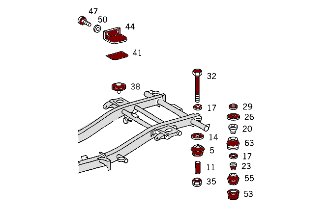 Body Mounting Parts (Serial 027801+)