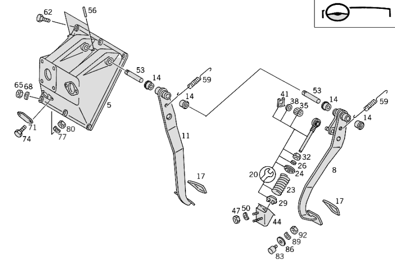 Pedal Assembly With Bearing W461 [PRO001231]