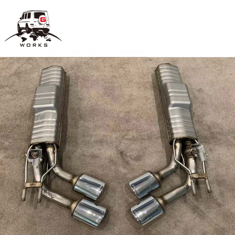 G63 style 2019 Valved Exhaust System muffler tips for G class G500 G550(W463a (2018+)) - [PRO000025]