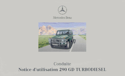 Manual Mercedes-Benz G-Class W463 1999 French