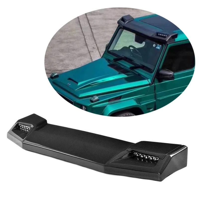 Carbon front roof spoiler with LED (BRABUS look) (W460 W461 W463 (Old) ) - [PRO000038]