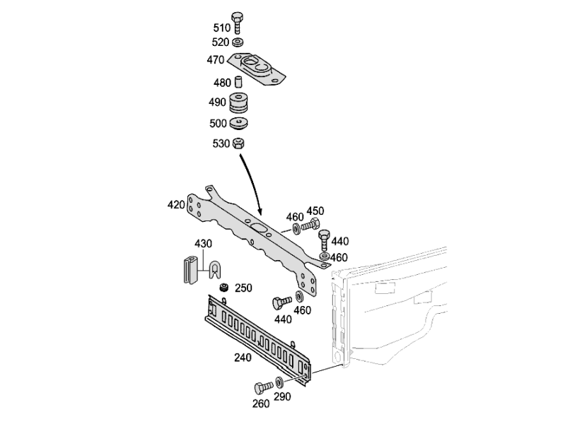Front Stiffening And Radiator Support W461  [PRO001060]