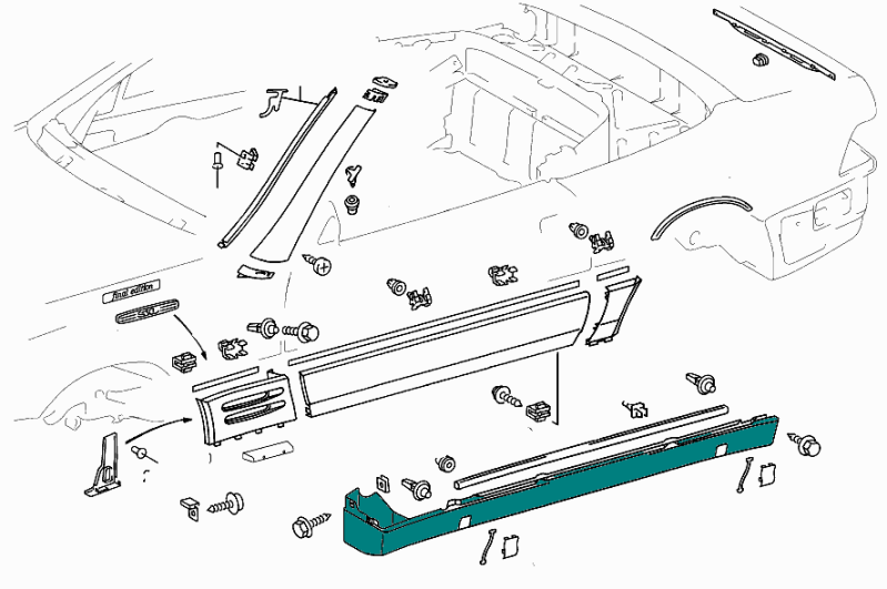 Mercedes-Benz AMG Side Sill (Left & Right) SL Class (R129) [PRO000431]