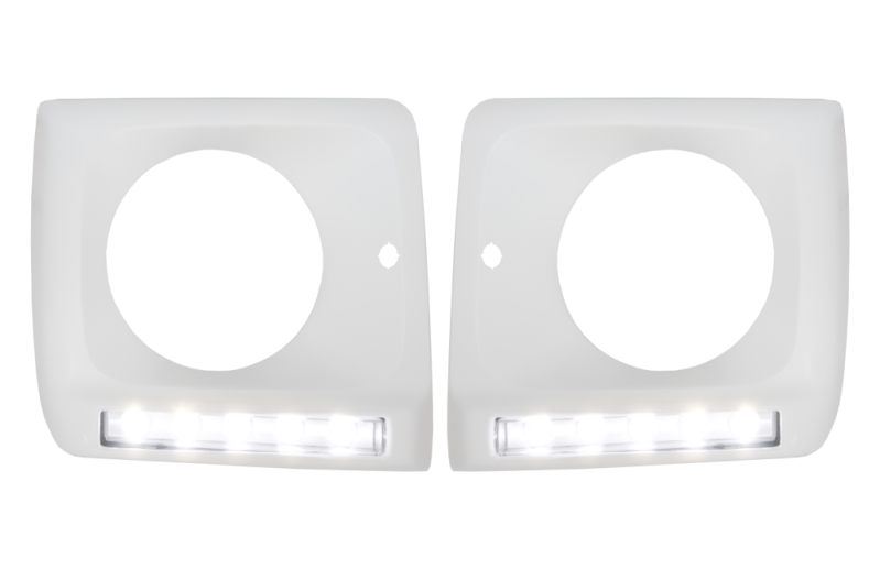 Headlight covers with LED