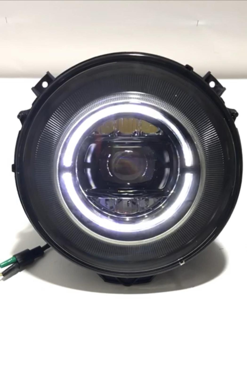"Headlights 7"" LED Black"
