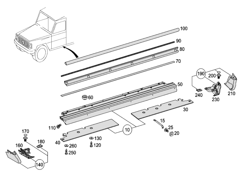 Running Boards W463a  [PRO001078]
