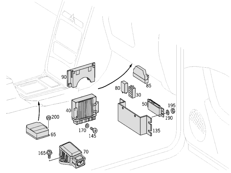 Apparatus Case And Control Units W463  [PRO001169]