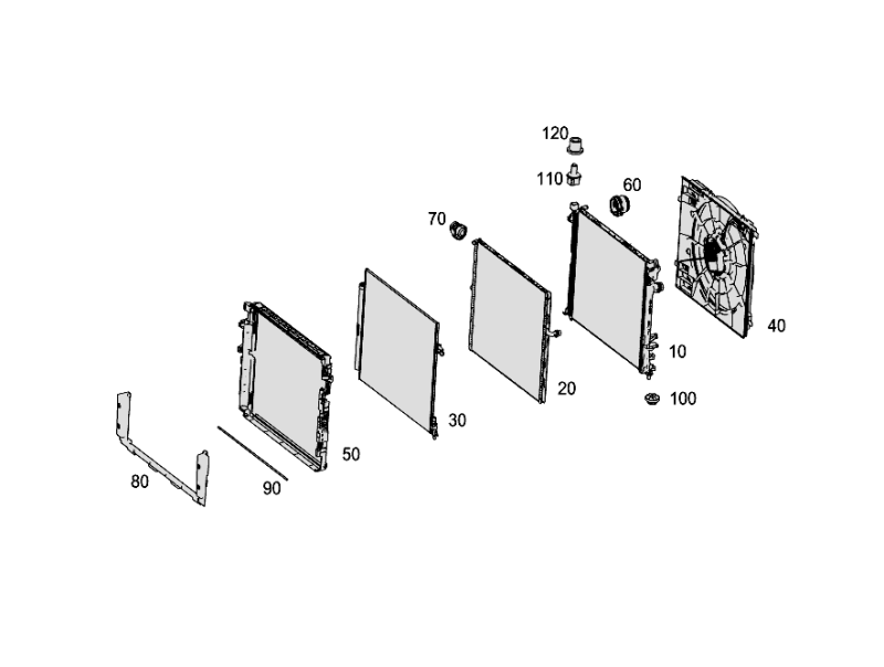 Radiator Mounting And Covering W463 G63 [PRO001225]