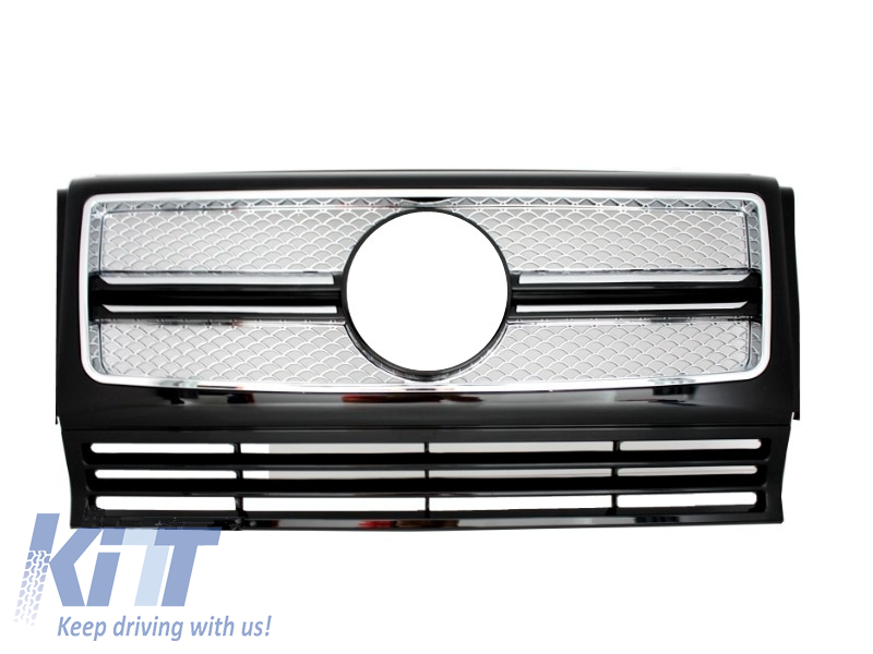 Front Grille suitable for MERCEDES G-Class W463 (1990-2014) New G65 Design Chrome Edition (W460 W461 W463 (Old) ) - [PRO000050]