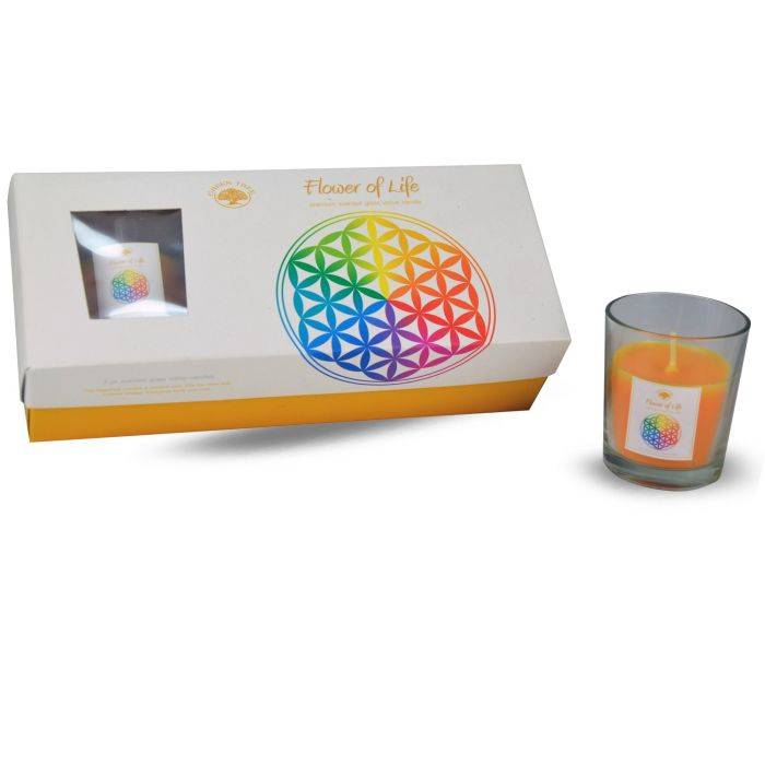 Gift set votives kaarsjes - Flower of life.
