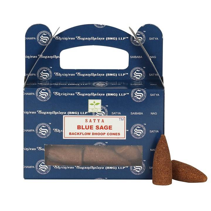 Satya Backflow Dhoop Cones - Blue Sage.