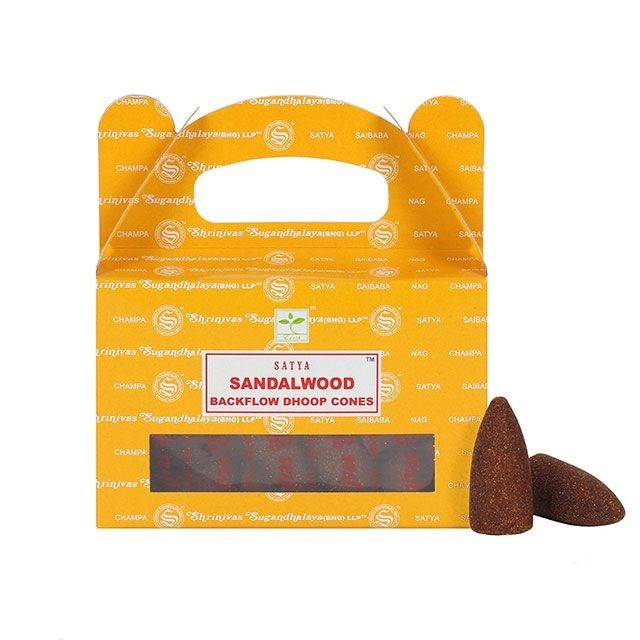 Satya Backflow Dhoop Cones - Sandalwood.