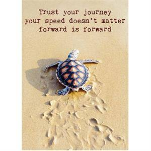 Ansichtkaart - Trust your journey..
