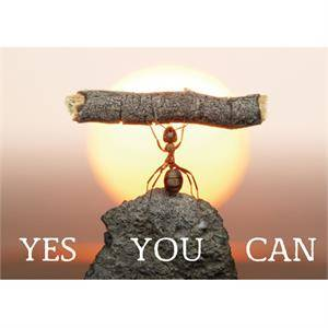 Ansichtkaart - Yes you can.