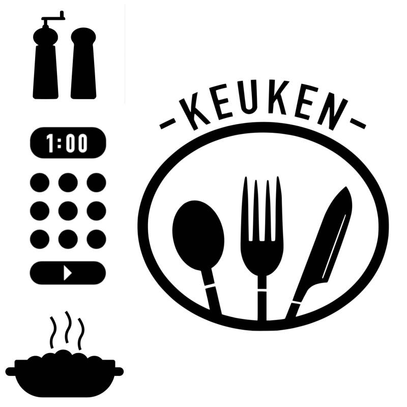Ikea keukentje sticker set 1
