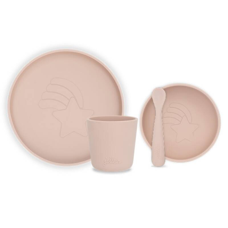 Dinerset siliconen - Pale Pink