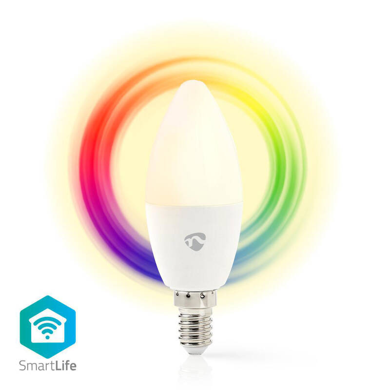 Wi-Fi smart LED-lamp Full Colour en Warm-Wit E14 WIFILC10WTE14