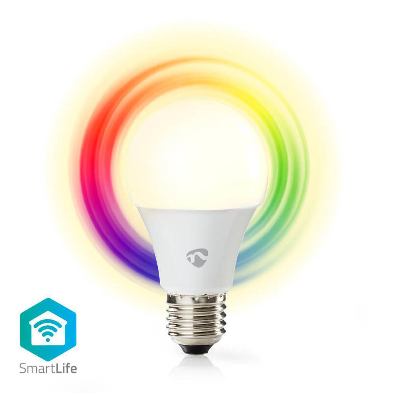 Wi-Fi smart LED-lamp Full-Colour en Warm-Wit E27 WIFILC10WTE27