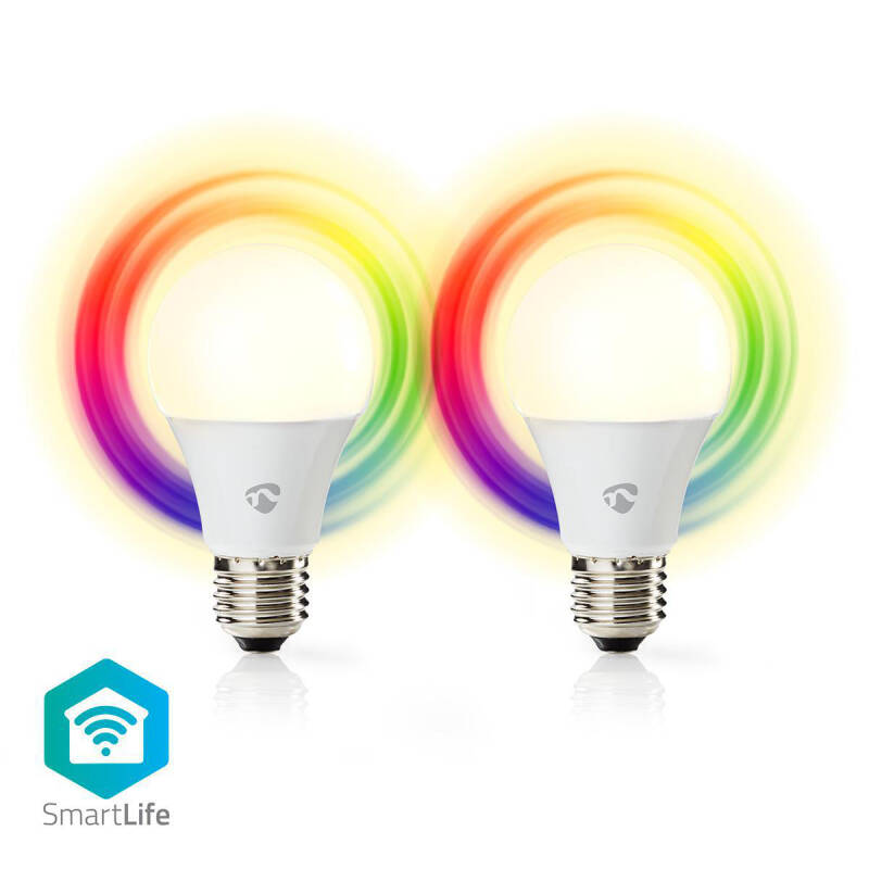 Wi-Fi smart LED-lampen 2 pack Full-Colour en Warm-Wit E27 WIFILC20WTE27