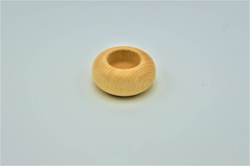 Houten theelichthouder rond / Wooden tea light holder round