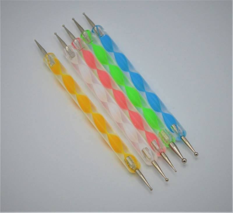 Dotting tools set acryl met metalen puntjes